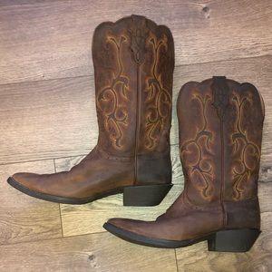 Justin Ladies Stampede Boots - EUC  Size 9 1/2 B